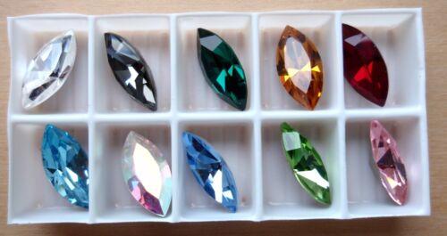 4200 opción de color 1 Swarovski ® cristal pedrería Navette 10 x 5mm Art
