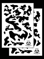 2pack Vinyl Airbrush Stencils 10 Mil Camouflage Duracoat 9x14 (army Camo)