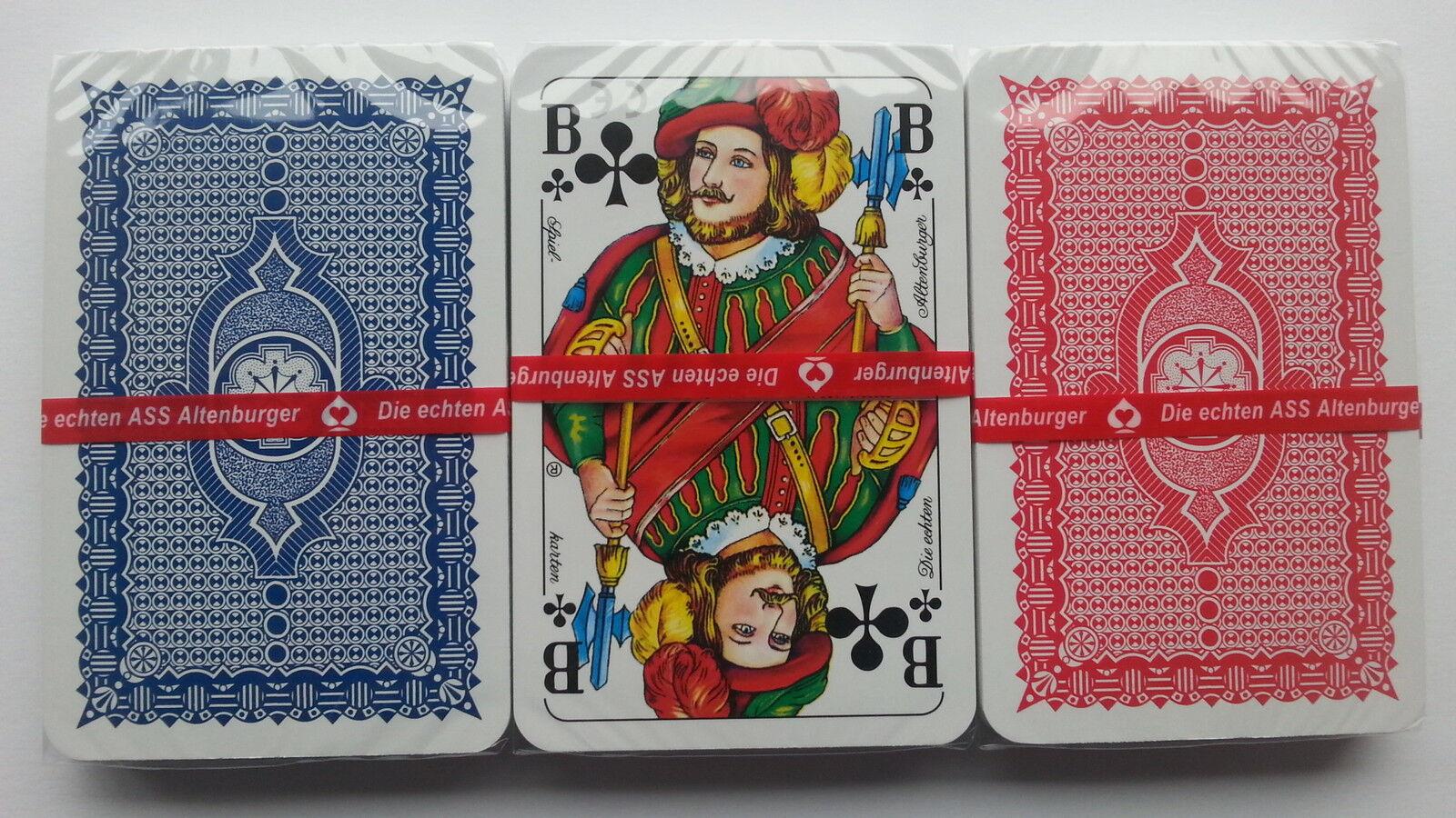 60 Skatspiele Skatkarten franz. Blatt Top-Qualität ASS Altenburger