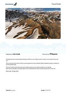 Travel voucher from Icelandair