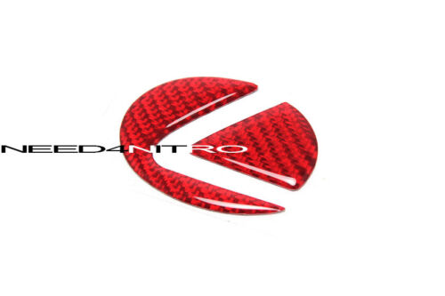 For Lexus IS GS RC F Sport Red Carbon Fiber Steering Wheel Emblem Insert Decal