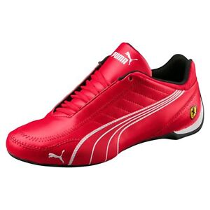 f9b11e18f64b new mens puma ferrari shoes future kart cat rosso corsa red black ...