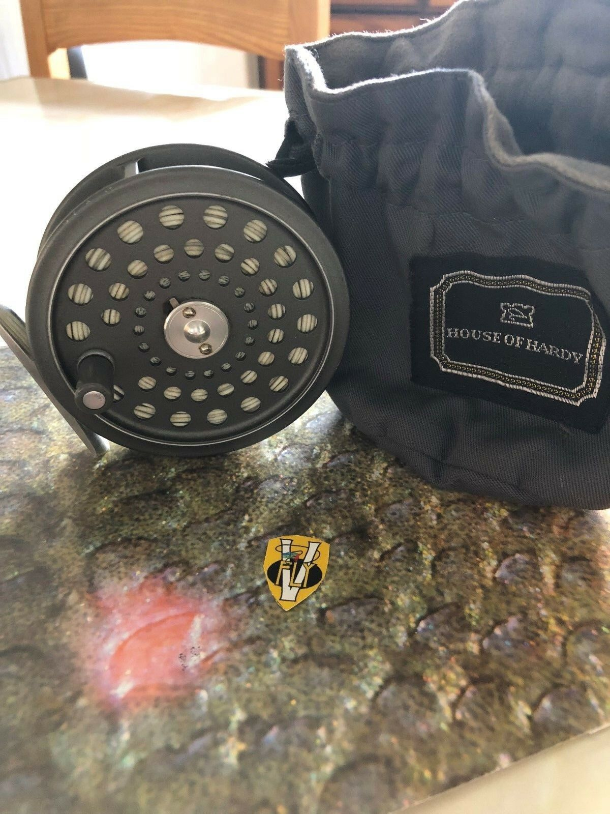 First Edition Hardy JLH Ultralite   7 Trout Fly Reel with Floating Fly Line