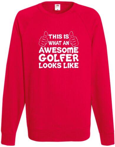 Awesome Golfisti Felpa Maglione giorno REGALO NATALE REGALO COOL compleanno divertente H