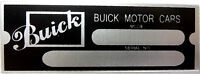 Buick Motor Cars Body Model Trim Number Plate Tag Part Owners Serial Code Vin