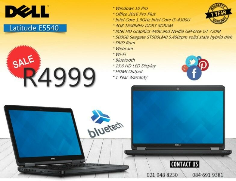Dell Latitude E5540, Core i5 4th gen, 15.6 inch, 8GB DDR3, 500GB HHD, Bluetech 0219488230.