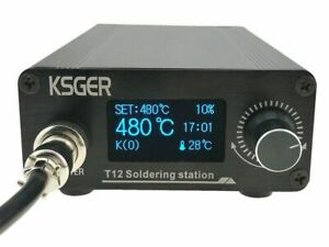 KSGER T12 Soldering Station Iron Tips STM32 V2.01 OLED DIY Kits FX9501 Handle