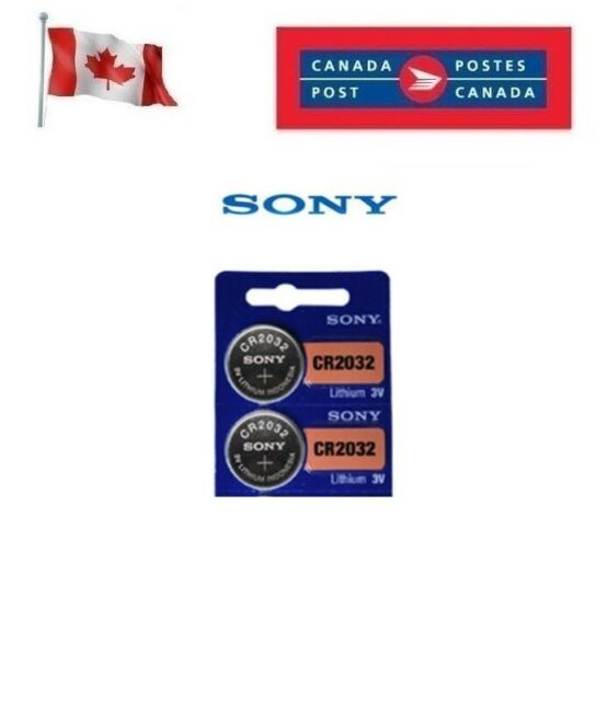 2 x Sony CR2032 Button Coin Cell 3V Lithium Battery Batteries exp 2030 DL2032