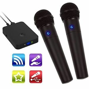 Cobble Pro Wireless Karaoke Microphone 2-pack Mic Source Vocal Removal  Music BT