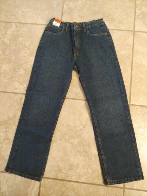 Wrangler Boys Size 16 Husky Slim Straight Dark Wash Jeans Denim Pants For Sale Online Ebay