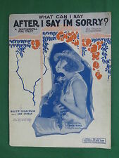 WHAT CAN I SAY AFTER I'M SORRY? A Sentimental Fox Trot RUTH ETTING Chicago 1926