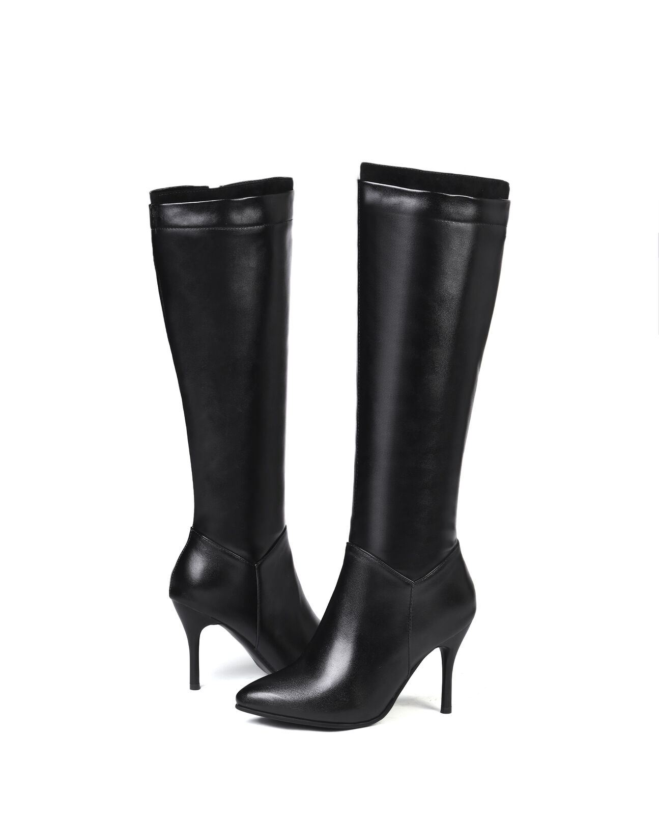 Mode Stiefel Damenschuhe Spitz HIgh zehe Lackleder Kneehohe Stiefel Sexy HIgh Spitz Heel 4b79cc