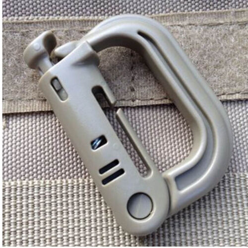 Tactical Grimloc Safety Safe Buckle MOLLE Locking D-ring   Climbing QP