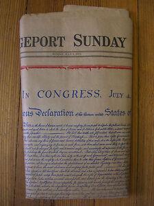 1976 July 4 The Bridgeport Post Original Newspaper America Celebrates Its 200th