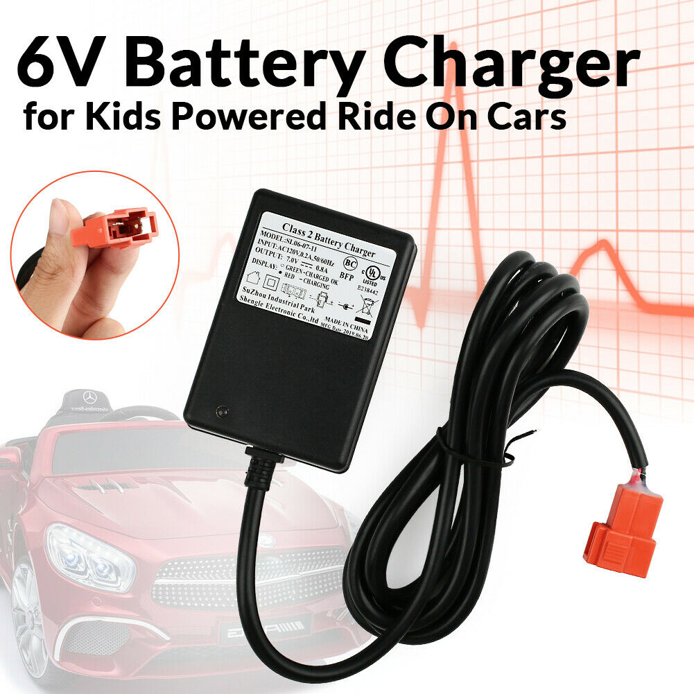 Battery Charger for 6V Kids Power Ride On Cars, Kid Trax Dis