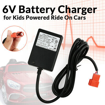 6V Battery Charger for Kids Electric Car SUV Powered Hello Kitty Ride on Toys Ride-On Battery Power Adapter Cord