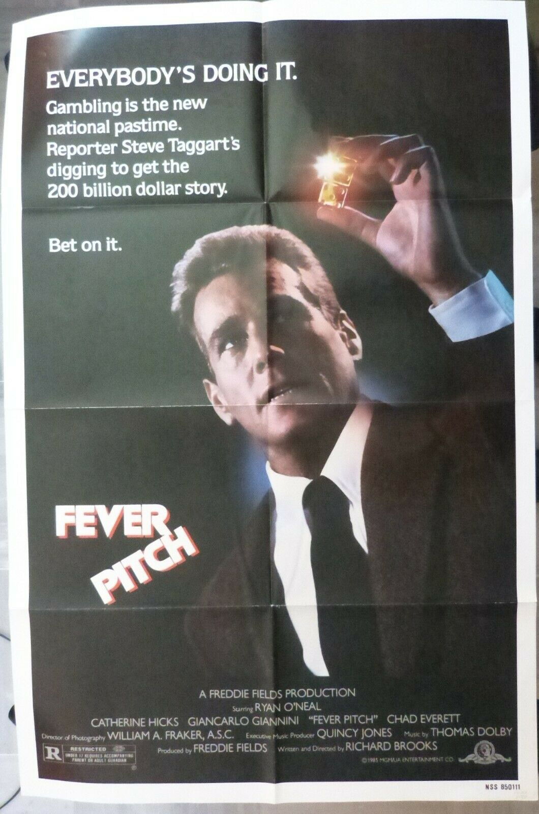Fever Pitch Movie Poster,Year 1985,27x41inch,Original,Ryan O'Neal