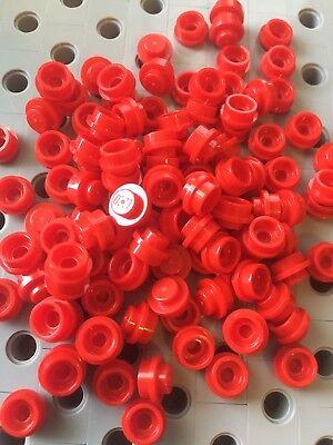 Lego White 1X1 Round Dot Plates With Hole Bricks Dots Stud Caps New 50pcs