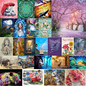 5D DIY Full Drill Diamond Painting Embroidery Cross Crafts Kit Home Decor Gifts