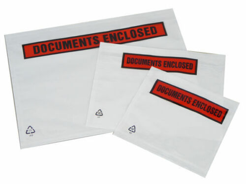 500 A6 Documents Enclosed Address Wallets Labels 160x110mm