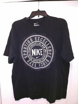 Coincidencia Almacén Proporcional  Nike Sporting Excellence Since 1972 T Shirt Mens Large Black | eBay