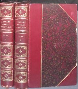 1909-Letras-De-Mme-de-Sevigne-2-Tomos-De-Cabezas-Dorado-1-Frontispicio-M-Formont