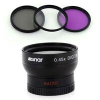 Wide Lens + Filter Kit For Sony Nex-f3 Rx1 Alpha Nex-5r Nex-7 Nex-6 Nex-c3 Nex5