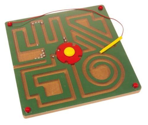 LABIRINTO piccolo, grande, magnetico in legno con biglie di metallo