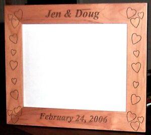 Personalized-Laser-Engraved-8-034-x10-034-Alder-Wood-Photo-Frame