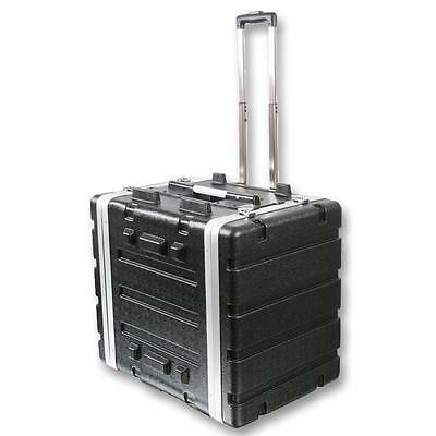 "NEW PA DJ 8RU Portable Equipment Rack Mount Storage Case.on wheels.19"" Stage.8u."