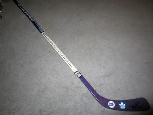 timeless design 77080 8b2e6 Details about MIKE BABCOCK Toronto Maple Leafs SIGNED Auto Hockey Fights  Cancer Stick w/ COA