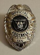 OAKLAND RAIDERS OFFICIAL FOOTBALL FAN BADGE PIN