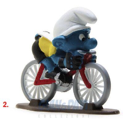 Coraggioso Puffo Puffi Smurf Smurfs Schtroumpf 4.0501 40501 Cyclist Ciclista 2a