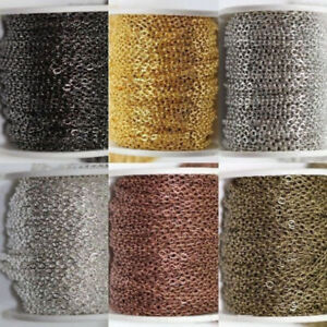5m-100m-Silver-Golden-Plated-Cable-Open-Link-Iron-Metal-Chain-Findings-6-Colors