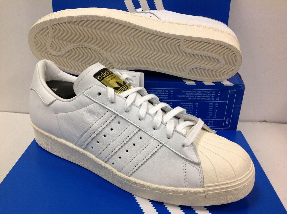 ADIDAS Originals Superstar 80 S DLX S75016 Homme Baskets, Taille UK 13/EU 48.5-