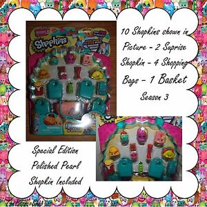 Limited 6 12 PACKS SHOPKINS Season 3 BUNDLE SPECIAL EDITION POLISHED PEARL