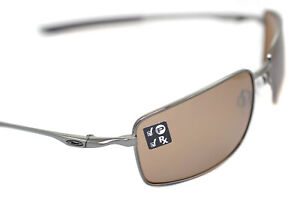 Oakley-Carre-Fil-Cable-Polarise-OO4075-06-Hommes-Metal-Soleil-Tungstene-Neuf