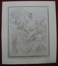 Acquaforte di Giuseppe Navile: Madre & Bambino 1775/Etching Mother & Child, anc
