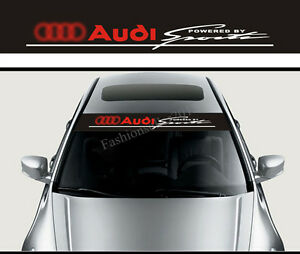 Front Windshield Decal Vinyl Car Stickers For Audi SPORT Auto - Car window decal stickers sports
