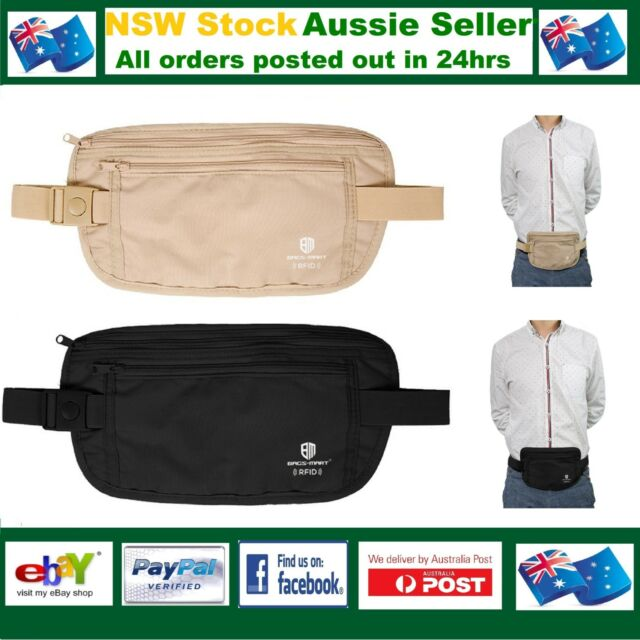 RFID Travel Waist Bum Bag Anti Theft Pouch Belt Passport Holder Safe Strap  Sport