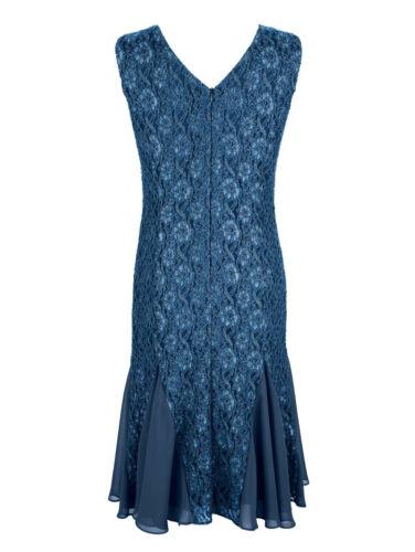NEU!! KP 139,99 € SALE/%/%/% Mona Spitzenkleid mit Schmucksteinen blau