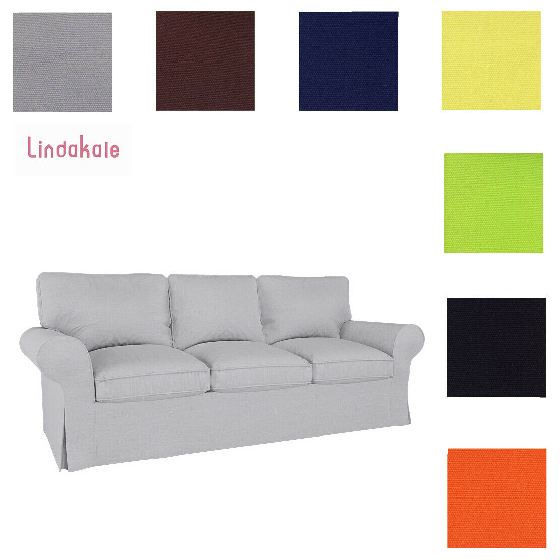 Picture of: Custom Made Cover Fits Ikea Ektorp Sofa Ektorp 3 Seat Sofa Cover Ektorp Cover Ebay
