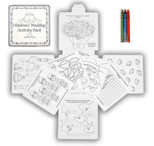 Juego de rompecabezas Libro X18 Boda Mesa favorece Regalo-coloración diversión actividad Pack