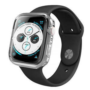 Para-Apple-Watch-Serie-4-caso-claro-tapa-de-gel-40mm-44mm