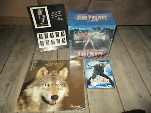 Johnny Hallyday-Lot coffret jean philippe(Statuette,dvd)calendrier Loups,Timbres