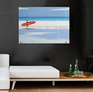 Art-Painting-Beach-canvas-Australia-ocean-surfing-surf-waves-seascape-seagull