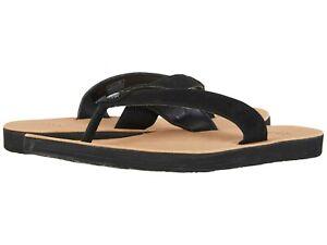 63123ab4c Women s Shoes UGG TAWNEY Leather Flip-Flop Sandals 1094677 BLACK