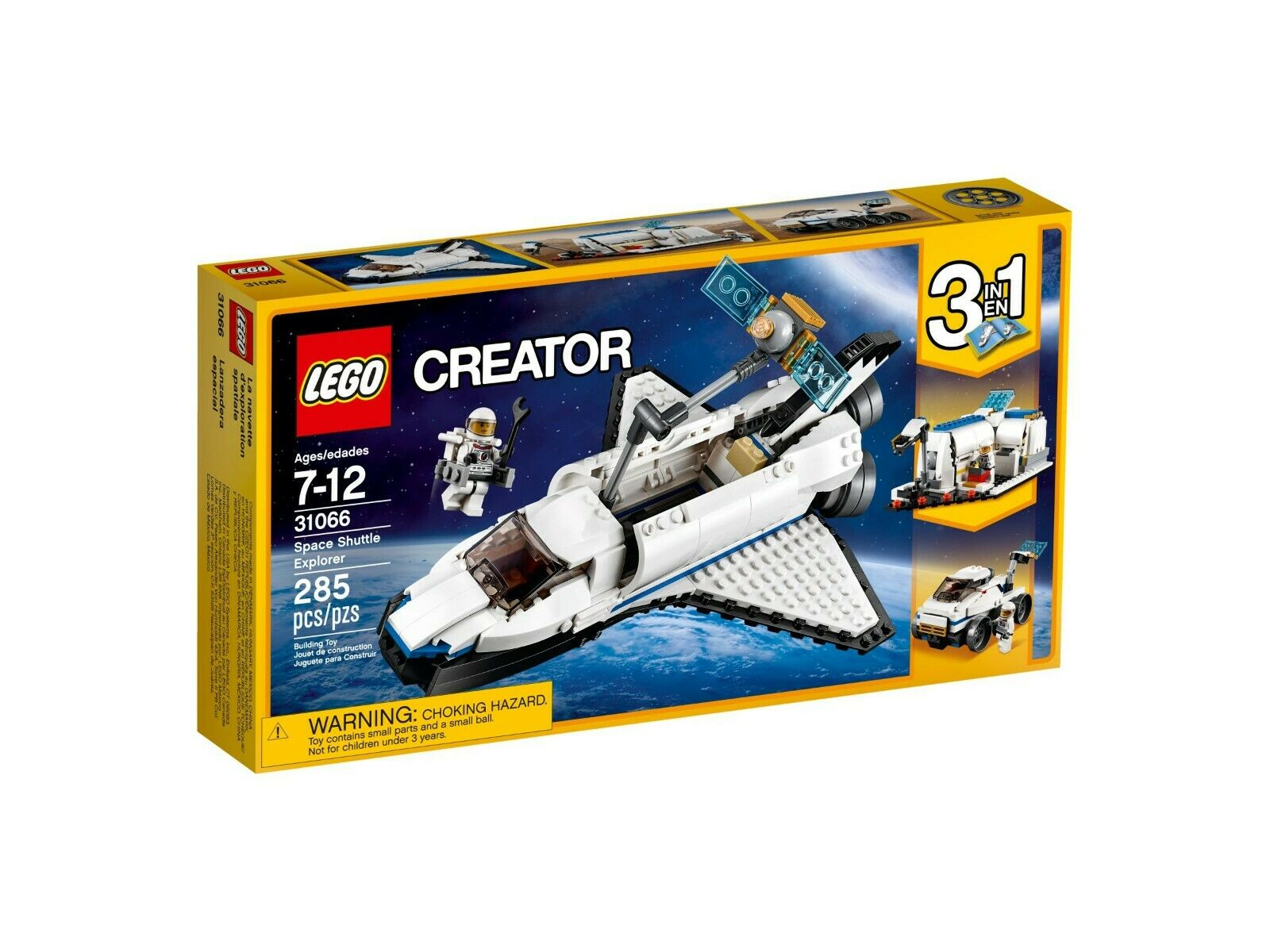 Lego Creator 3-in-1-sets 31066 Forschungs-Spaceshuttle New Nouveau