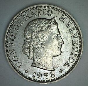 1956B-SUIZA-20-RAPPEN-SUIZA-HELVETIA-20-Centavo-Moneda-UNC