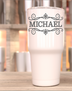 Details About Personalized Name Vinyl Decal Wine Glass Yeti Tumbler Diy